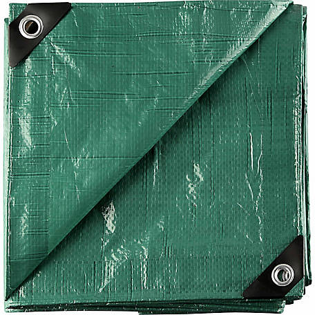 Barn Star 8 ft. x 10 ft. Green Tarp, Pack of 2, KSG2PK0810
