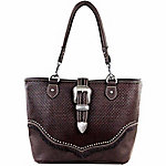 Trinity Ranch Basketweave Pattern Concealed Handbag