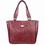 Trinity Ranch Floral/Leaf Tooled-Pattern Concealed Handbag