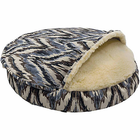 Snoozer Orthopedic Premium Micro Suede Cozy Cave Dog Bed, Show Dog Collection, Tempest