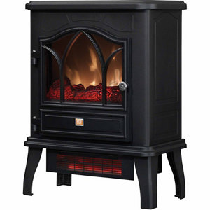 RedStone Infrared Quartz Electric Fireplace Stove, Black at ...