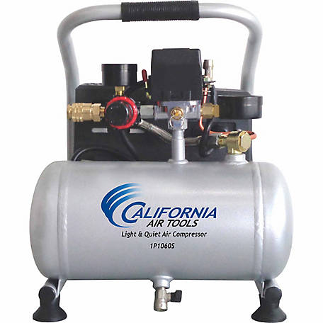 California Air Tools 1P1060S Light & Quiet .6 HP 1-gal. Steel Tank Portable Air Compressor