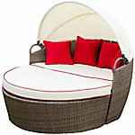 Festival Depot Sunnie 3-Piece Covered Daybed Sofa Set