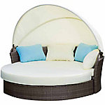 Festival Depot Sahara Wicker Day Bed Sofa Set