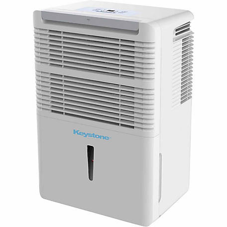 Energy Star 50-Pint Dehumidifier with Electronic Controls, White