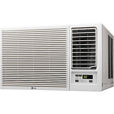 LG 18,000 BTU 230V Air Conditioner with 12,000 BTU Supplemental Heat Function