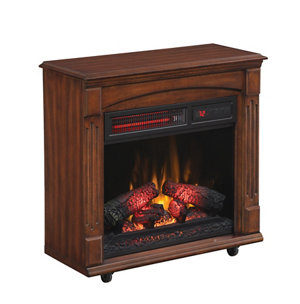Redstone Chimney Free Rolling Mantel With Infrared Quartz