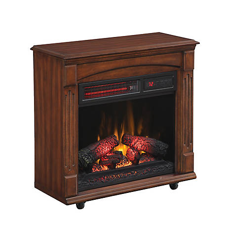 RedStone Infrared Quartz Rolling Mantel Fireplace, 18IRM9984-C247