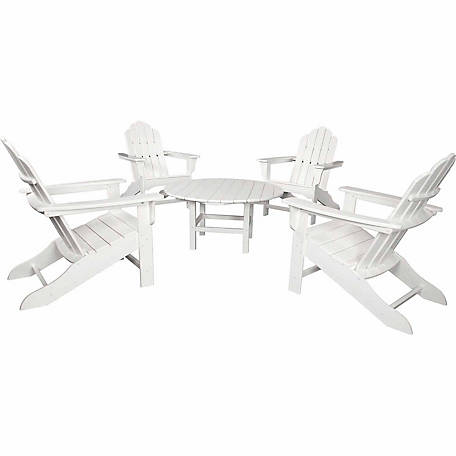 Hanover All-Weather 5-Piece Adirondack Chat Group