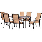 Hanover Brigantine 7-Piece Outdoor Dining Set with Cast-Aluminum Tabletop