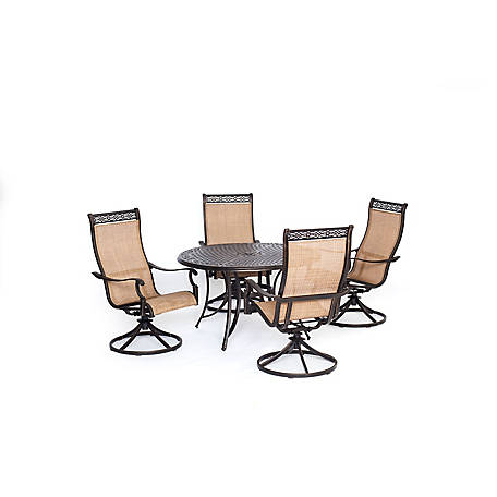 Merveilleux Hanover Manor 5 Piece Outdoor Dining Set With Four Swivel Rockers At  Tractor Supply Co.