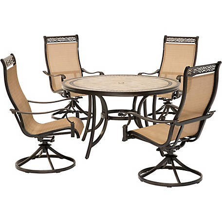 Hanover Monaco 5 Piece Dining Set With Sling Back Chairs