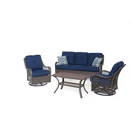 Hanover Orleans 4-Piece All-Weather Patio Set