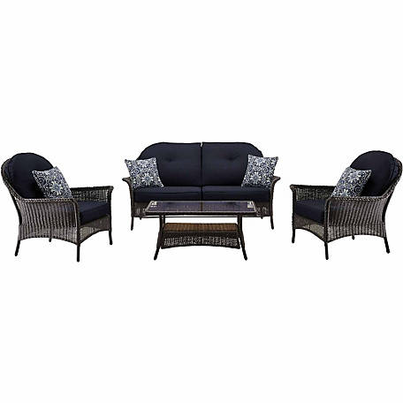 Hanover San Marino 4-Piece Patio Set
