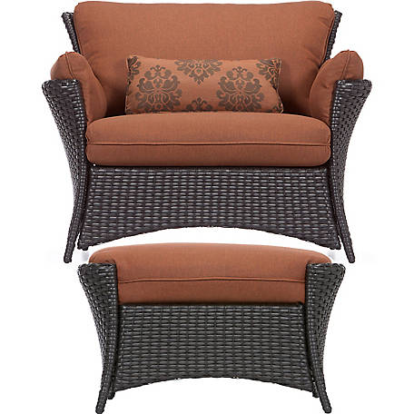 Hanover Strathmere Allure 2-Piece Set, Oversized Armchair and Ottoman
