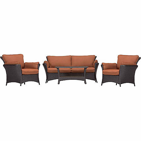 Hanover Strathmere Allure 4-Piece Lounge Set