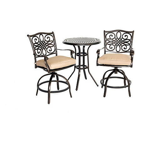 Hanover Traditions 3-Piece High-Dining Bistro Set