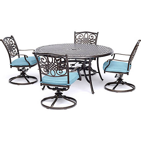 Hanover Traditions 5 Piece Dining Set With Four Swivel Rockers At Tractor  Supply Co.