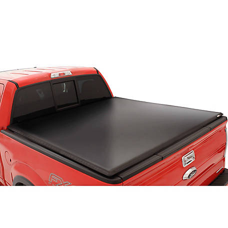 Lund Tri-Fold Tonneau, Black Vinyl, 2015-2017 Ford F-150, 6.5 ft. Bed