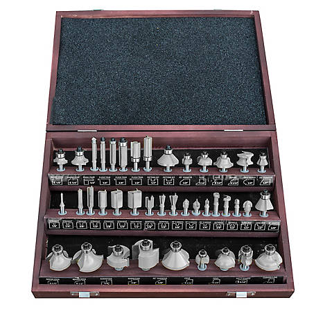 Pro-Series 40-Piece Router Bit Set in Wood Box