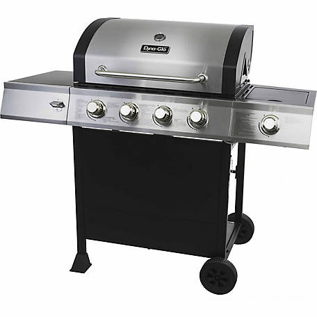 Dyna-Glo 4-Burner Open-Cart Propane Gas Grill