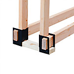 Pleasant Hearth LS-B4 Log Bracket, Pack of 4