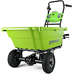 Greenworks GC40L410 G-MAX 40V Self-Propelled Wheelbarrow, 40V 4Ah Battery and Charger Included