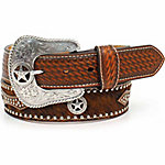Nocona Men's Pro Star Buckle Belt