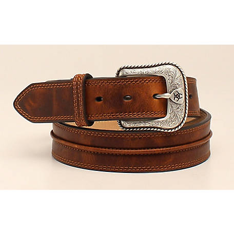 Ariat Men's Belt with Center Piping