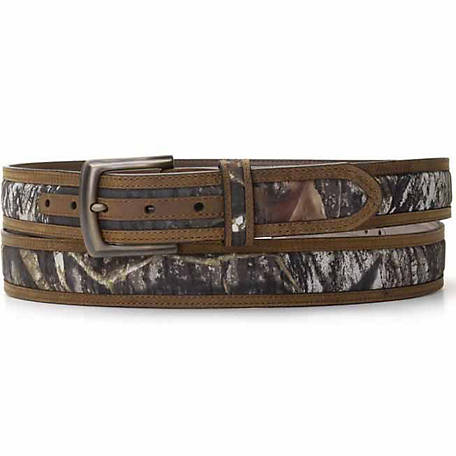 Nocona Men's Belt with Scallop Bullet Concho