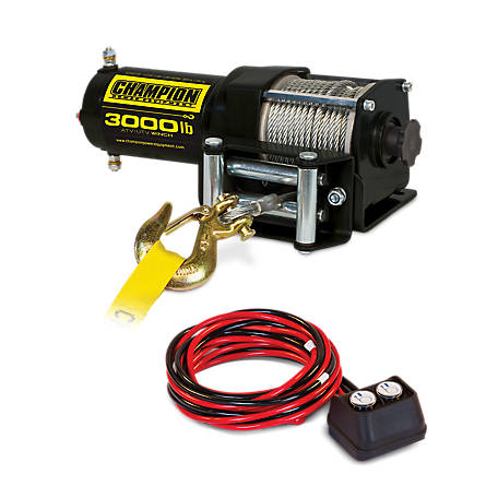 Champion Power Equipment 3,000 lb. ATV/UTV Winch Kit, 13005