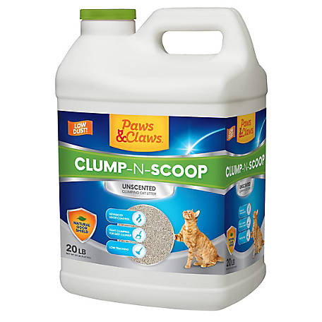 Paws & Claws Scoopable Cat Litter, 20 lb. Jug, 1250755