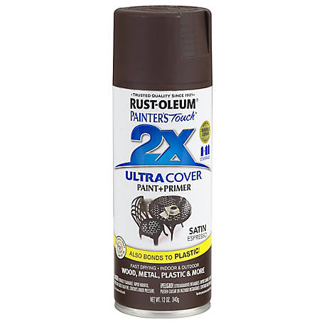 Rust-Oleum Rust-Oleum Painter's Touch 2X Ultra Cover Spray Paint, Satin, Espresso, 12 oz., 249081