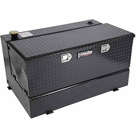 Dee Zee L-Shaped Transfer Tank with Chest Box, 92 gal., Black
