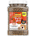 Friskies Party Mix Crunch Original Cat Treats, 20 oz. Canister, 1.25 lb.