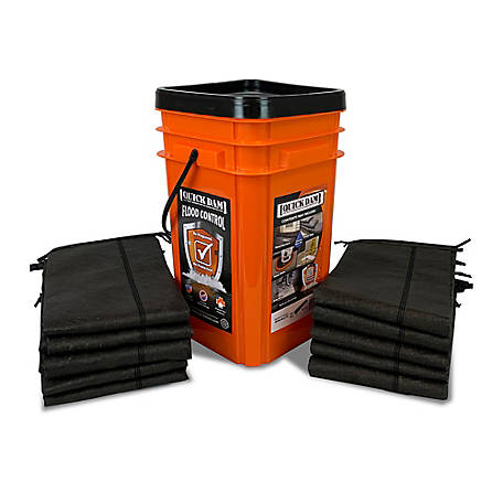 Quick Dam Grab & Go Flood Kit, 1 Bucket (5 ft.)