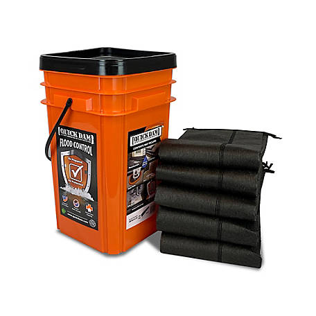 Quick Dam Grab & Go Flood Kit, 1 Bucket (10 ft.)