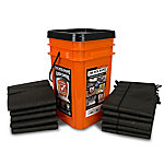 Quick Dam Grab & Go Flood Kit, 1 Bucket (5 Barriers/10 Bags)