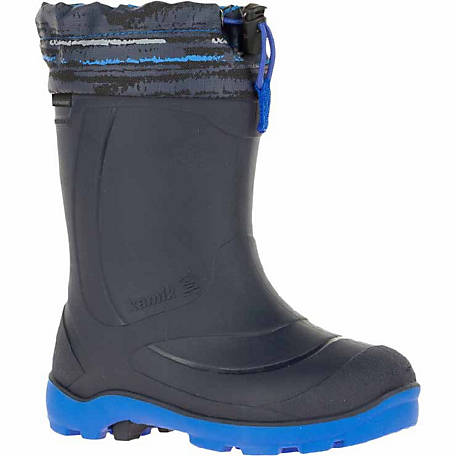 Kamik Boys  8.5 in. Snobuster2 Navy Waterproof and Insulated Boots ... 777892d6c60e