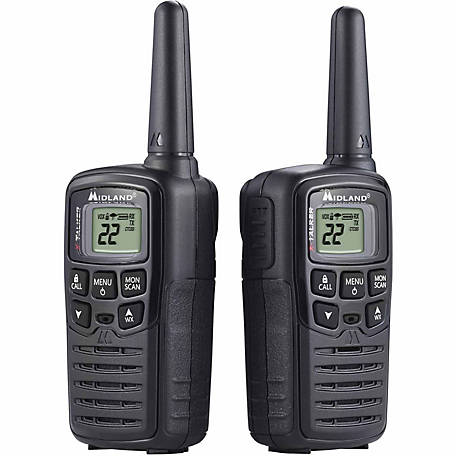 Midland T10 Two-Way Radios, 22 channels, 20 Miles