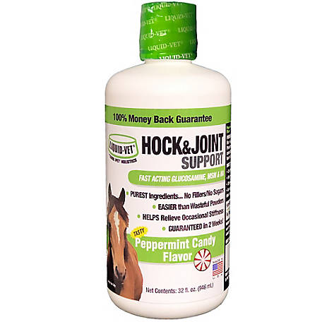 Liquid-Vet Equine Hock & Joint Support Formula, Peppermint, 32 oz  Economy  Size, LVHJS-PE 32 OZ US at Tractor Supply Co