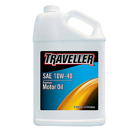 Traveller Conventional 10W-40 Motor Oil, 5 qt.