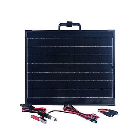 Nature Power 40W Portable Monocrystalline Silicon Solar Panel for 12V Charging, 55701