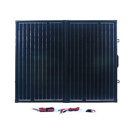 Nature Power 120W Portable Monocrystalline Silicon Solar Panel for 12V Charging, 55702
