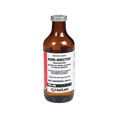 AgriLabs Agri-Mectin 1% Injection, 200 ml, 63893