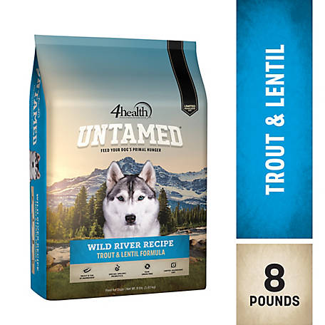 4health Untamed Wild River Recipe Trout & Lentil Formula Dog Food, 8 lb. Bag