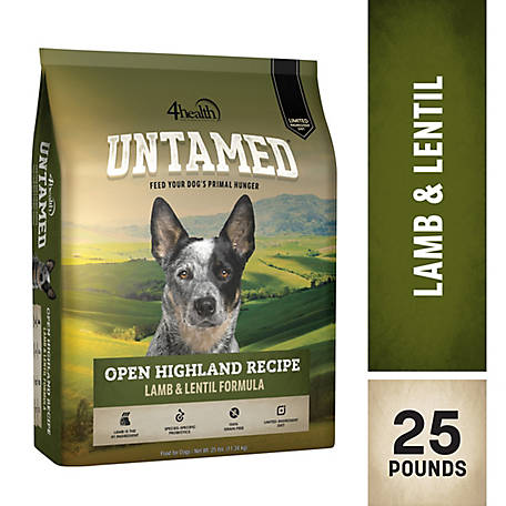 4health Untamed Open Highland Recipe Lamb & Lentil Formula Dog Food, 25 lb. Bag