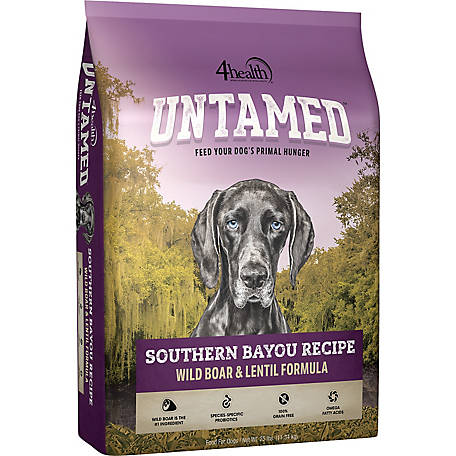 4health Untamed Southern Bayou Recipe Wild Boar & Lentil Formula Dog Food, 25 lb. Bag