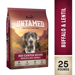4health Puppy Food >> 4health Untamed Red Canyon Recipe Buffalo & Lentil Formula Dog Food, 25 lb. Bag at Tractor ...