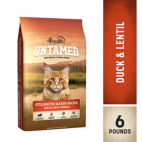 4health Untamed Stillwater Marsh Recipe Duck & Lentil Formula Cat Food, 6 lb. Bag